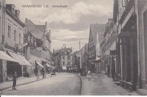 offenburger ansichtskarten die stadt offenburg in historischen ansichtskarten steinstra e. Black Bedroom Furniture Sets. Home Design Ideas